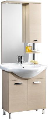 Mobile bagno modello karine con lavabo integrale e specchio cm 75 ...