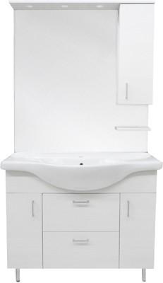 Mobile bagno mod. nicole con lavabo integrale e specchio cm 75 pino ...