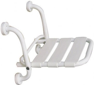 Sedile ribaltabile bianco verniciato
