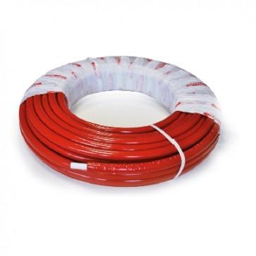 Tubo multistrato nicoll system coibentato rosso 16 x 2