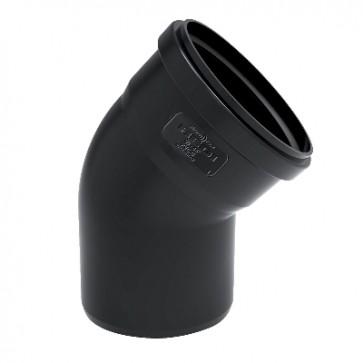 Curva phono black 87° mf diam. 100 mm