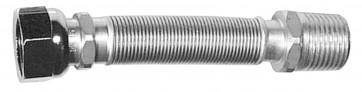 Flessibile inox raccordo in ottone mm 220 / 420 (per acqua) 3/4