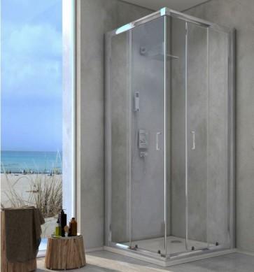 Box Doccia in cristallo trasparente 80x80