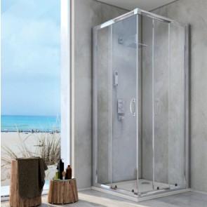 1 lato per doccia angolare cristallo linea essential cm 78-80