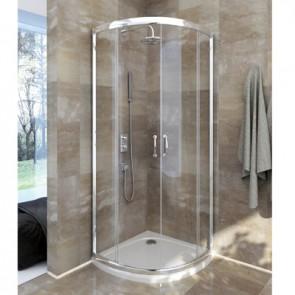 Box doccia circolare cristallo trasparente linea essential cm 80