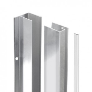 Coppia profili per fissaggio a parete per walk-in essential h 190 cm