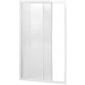 """Box doccia a nicchia 1 lato apertura scorrevole bianco """"serie york"""" cm 102-106"""