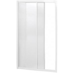 """Box doccia a nicchia 1 lato apertura scorrevole bianco """"serie york"""" cm 112-116"""