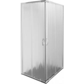 Box doccia 2 lati cristallo opaco 4mm serie quattro cm 70 - 80
