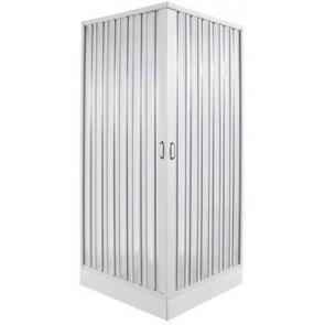 Box doccia 2 lati a soffietto riducibile mod. rosy cm 90 x 90