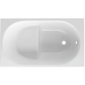 Guscio vasca rettangolare bianca mod. giada con seduta cm 105 x 70 s/pannello