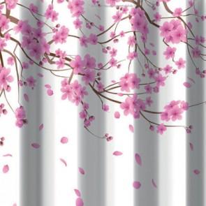 Tenda per doccia 2 lati in tessuto cm 180 x 200 mod. sakura rosa
