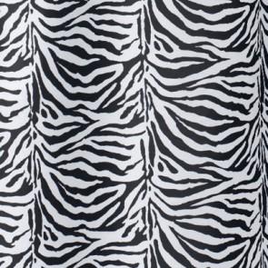 Tenda per doccia 2 lati in tessuto cm 180 x 200 mod. zebra nero