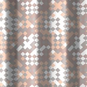 Tenda per doccia 2 lati in tessuto cm 240x200 mod. framm. beige