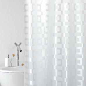 Tenda per doccia in tessuto mod. dama cm 180x200
