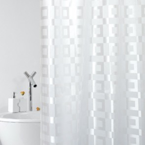 Tenda per doccia in tessuto mod. dama cm 240x200