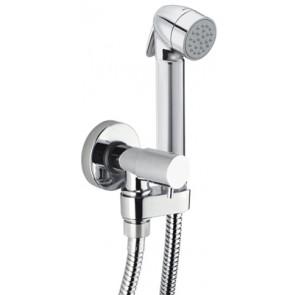 Set doccia completo mod. talita-gom con pulsante ottone cromo