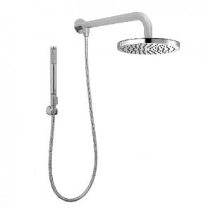 Braccio doccia con soffione e doccetta zoe renovation Cromo