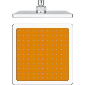 Soffione doccia bianco quadro modello 12618 mm 200 arancio
