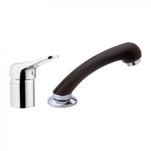 Mixer completo con doccia estraibile linea parrucchieri