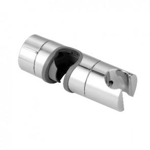 Supporto scorrevole in abs cromato per asta 18-25mm cromo