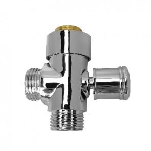 Deviatore tondo in ottone cromato per colonna doccia cromo