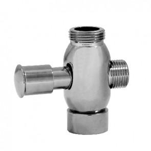 Deviatore in ottone cromato per colonna doccia cromo