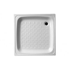 Piatto doccia in acciaio bianco cm 80 x 80 x h 8