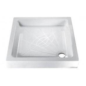 Piatto doccia quadro iniezione bianco cm 80 x 80