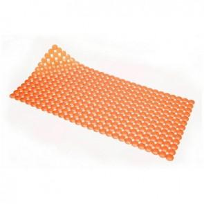 Tappeto antiscivolo per vasca mod. rondo' cm 72x36 arancio