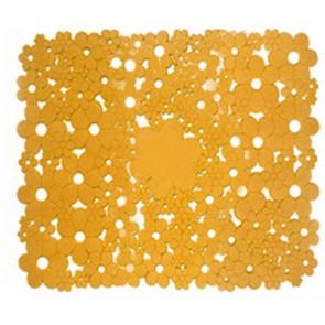 Tappeto antiscivolo mod. flowers cm 53 x 53 arancio