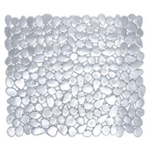 Tappeto antiscivolo mod. stones cm 54 x 54 argento