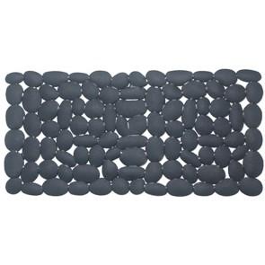 Tappeto antiscivolo mod. ciottoli cm 36 x 75 grigio