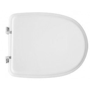 Sedile wc per cesame vaso aretusa bianco con cerniera regolabile bianco
