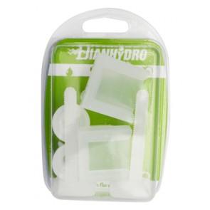 Coppia supporti per sedili in pvc con viti in plastica blister