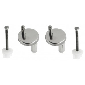 Cerniera singola regolabile passante/espansione in acciao inox cromo