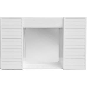 Specchio con antine senza luce simpaty bianco bianco