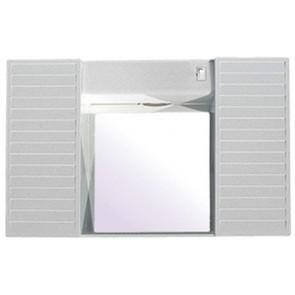 Specchio con due antine bianco