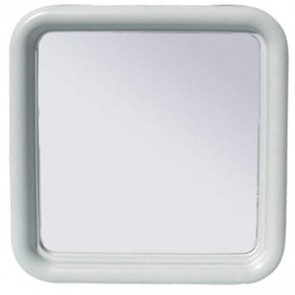 Specchio quadro silvia cm 50 x 50 serie imma bianco