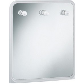 Specchio rettangolare con luci mod.vela bianco cm 60 x 70