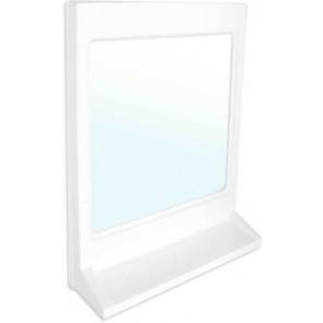 Specchio rettangolare con mensola modello athena bianco