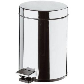 Pattumiera per toilette cilindrica con apertura a pedale 5 litri lux diam. 200 x h 290mm