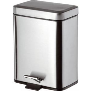 Pattumiera per toilette quadra con apertura a pedale 5 litri lux lxhxp - 225x300x140 mm