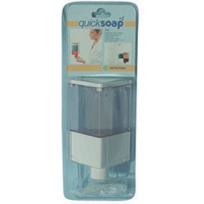 Dosatore di sapone liquido quick soap serie linea bianco esente IVA emergenza COVID ex art.124 D.L. n. 34/2020