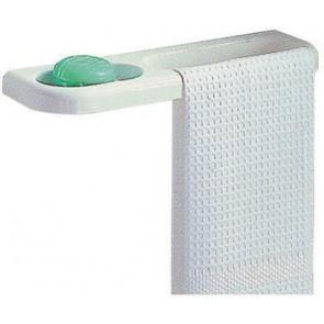 Porta-sapone e porta-salvietta combinato serie linea bianco
