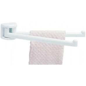 Porta-asciugamani con bracci a snodo serie linea bianco