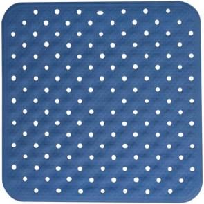 Tappetino antiscivolo doccia 54 x 54 mod. kino azzurro