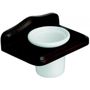 Porta-spazzolini mod. mathilde legno anticato metaform cm 17.5 x h 11.5 x 13
