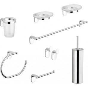 Set accessori bagno 8 pezzi serie zero metaform cromo