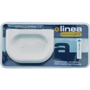 Porta-sapone serie luca bianco